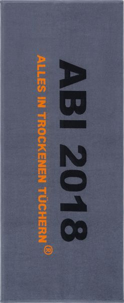 ABI Handtuch 2018 - grau